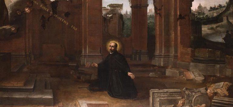 Peinture de la Vision d'Ignace de Loyola