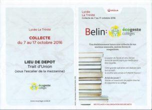 Collecte de livres anciens par l'APEL - Fénelon - La Trinité