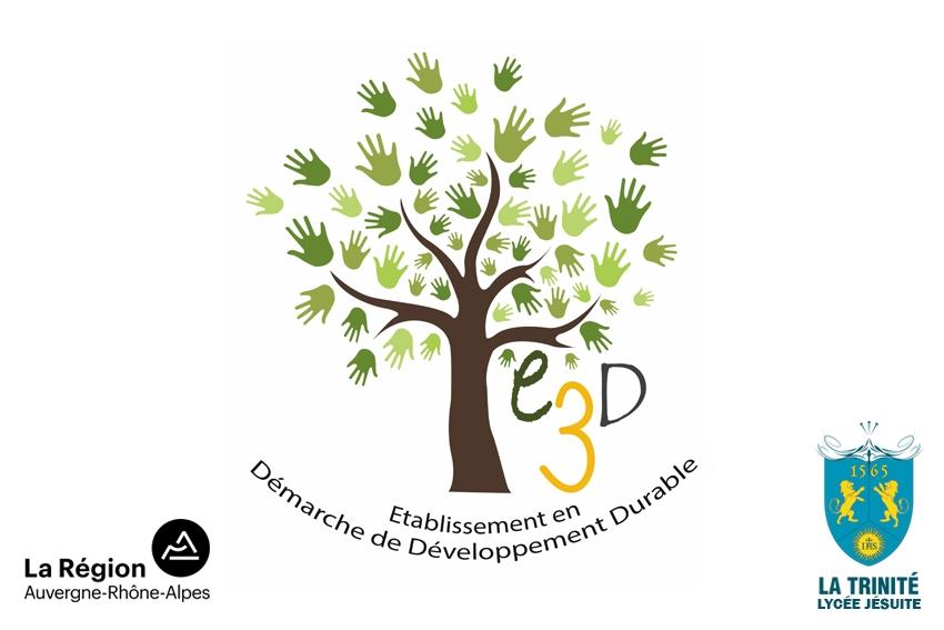 Logo E3D - Établissement en Démarche de développement durable - Fénelon - La Trinité